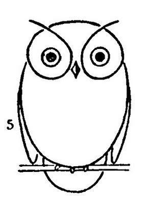 draw  owl  printable worksheet