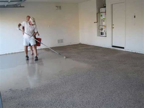 epoxy flooring application how to apply an epoxy garage floor coating coats epoxy floor and colors