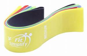 Fit Resistance Exercise Bands Yoga Workout Indoor Gym Training Instruction Guide