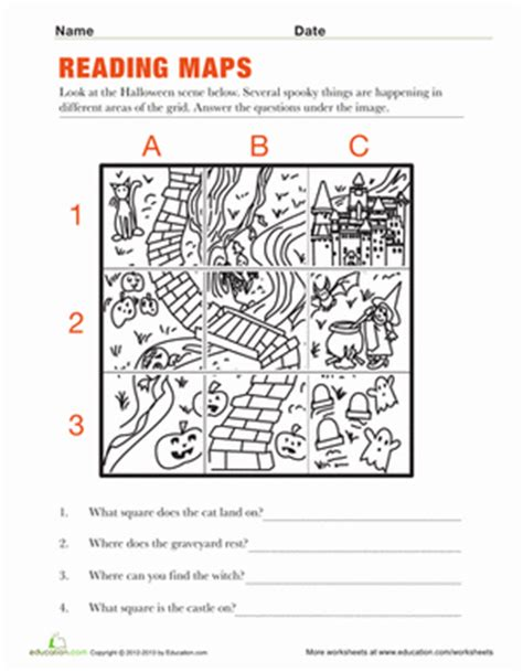 reading maps worksheets social studies and