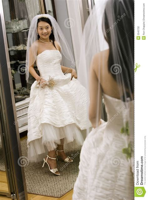 bride   mirror stock photography image