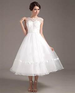 Tea length plus size wedding dresses iris gown for Tea dress wedding