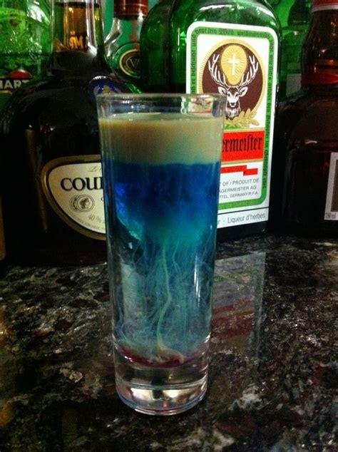 jelly fish sambuca blue curacao baileys grenadine
