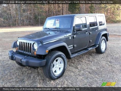 jeep dark gray dark charcoal pearl 2010 jeep wrangler unlimited sport