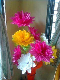 membuat bunga anggrek  kantong plastik http
