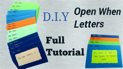 how to make open when letters part 1 valentine 39 s day
