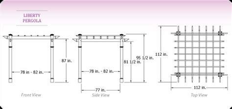 standard pergola measurements liberty pergola garden com