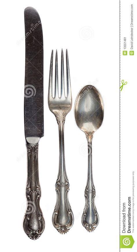 Antique Silverware Stock Image   Image: 13551481