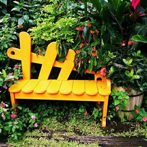 yellow outdoor bench how to build a garden bench by yourself 23 ideas for the