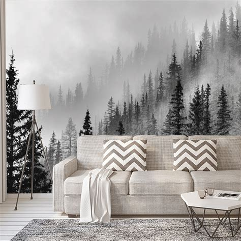 enchanted forest wall mural wallpaper rustic