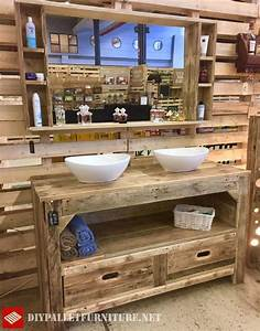 Schubladen Für Paletten : gro e rustikale m bel f r das bad mit paletten die schubladen enth lt ein regal und die beiden ~ Sanjose-hotels-ca.com Haus und Dekorationen