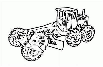 Coloring Construction Truck Tonka Pages Transportation Printables