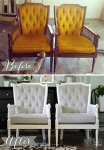 Chair Upholstery Fabric Ideas by A Vintage Cane Chair Pair Makeover In Grey Velvet The