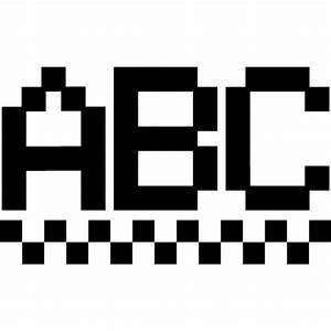 Letras abc en forma pixelada Descargar Iconos gratis
