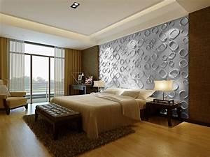 3d Wandpaneele Schlafzimmer : 40 coole ideen f r effektvolle schlafzimmer wandgestaltung ~ Michelbontemps.com Haus und Dekorationen