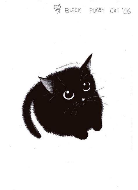 cute black cat  pinkmew  deviantart