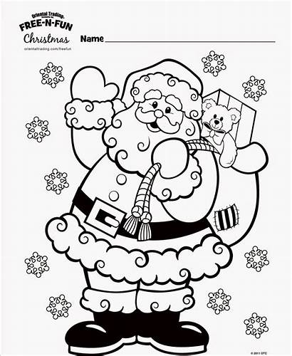 Fun Coloring Christmas Pages Trading Oriental Sheets