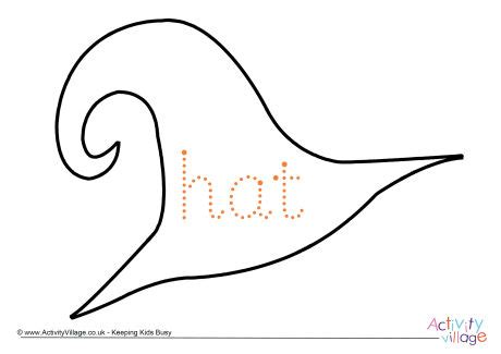 hat word tracing page