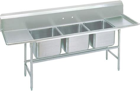 3 compartment sink price advance tabco 93 23 60 18rl 103 quot three compartment sink w