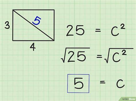 formas de encontrar la diagonal de  rectangulo