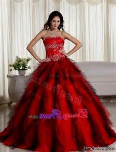Red Ball Gown Prom Dress 2017