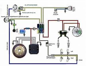 Battery Less Wiring Diagram With A Horn And Indicators