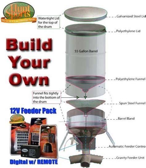 55 gallon drum deer feeder build your own deer feeders build your own 55 or