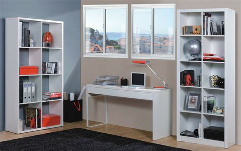 Computer Desk Bookcase by Milan White Gloss Computer Desk Table Bookcase Office