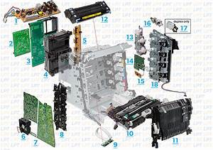 Parts Diagram Hp Lj 3000  3600  3800  Cp3505