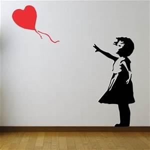 Adesivo Murale Banksy Bambina Con Palloncino Stickers