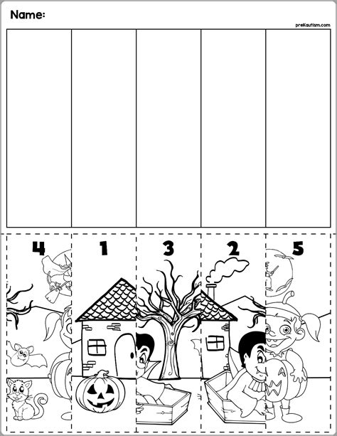 halloween scene number sequence puzzles  images