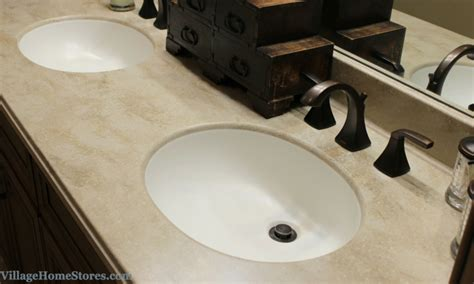Corian Bowl by Corian Tumbleweed Bathroom Vanity Top With Integrated Bowl