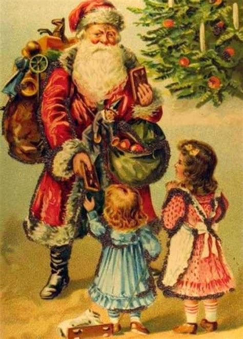 google gr art christmas cards time santa claus painting free vintage clip santa santa santa