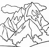 Mountain Coloring Advertisement sketch template