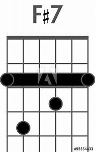 Guitar Chord Diagram To Add To Your Projects  F Sharp 7