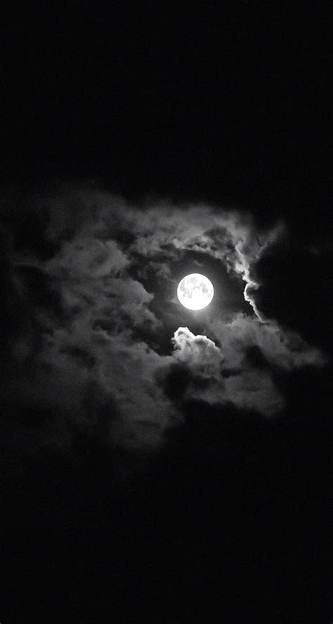 Black Wallpaper Iphone Moon by Moon Black Clouds Wallpaper Background Iphone