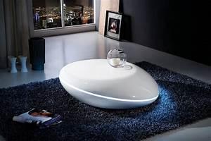 Table Basse Ronde Blanche : petite table basse design pas cher design en image ~ Teatrodelosmanantiales.com Idées de Décoration