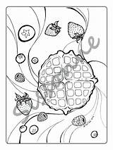 Waffle Coloring Pages Printable Getcolorings Print sketch template