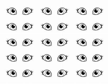 Coloring Eyes Pair Pages Sheet Eye Cat