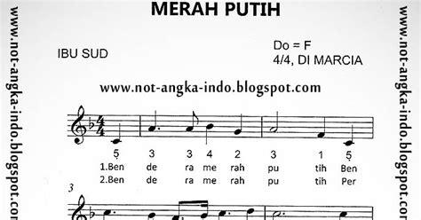 not angka lagu tanah airku not angka lagu merah putih not angka lagu indonesia