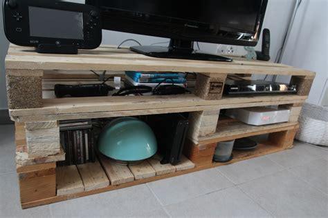 meuble fabrique avec des palettes meuble tv en palette tutoriel le boudoir d amandine