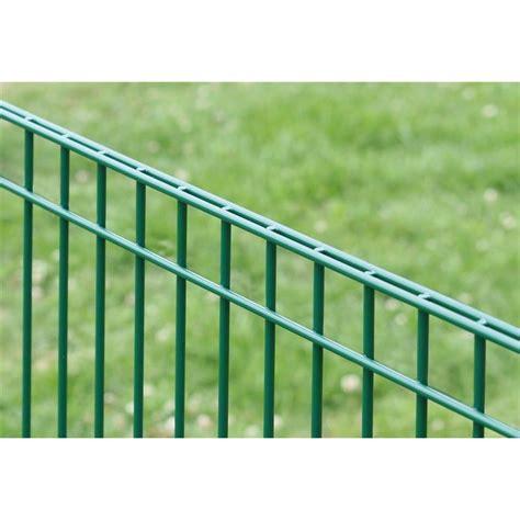 Zaunelemente Metall Grün by Dino Trend Doppelstabmatten Quot Hybrid Quot 25 00