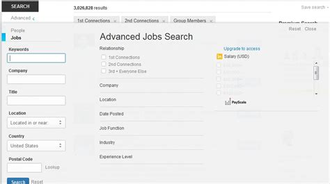 how to search in linkedin by using advanced search