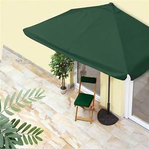 Easymaxx balkon sonnenschirm rechteckig mit 40 uv for Französischer balkon mit bistro sonnenschirm