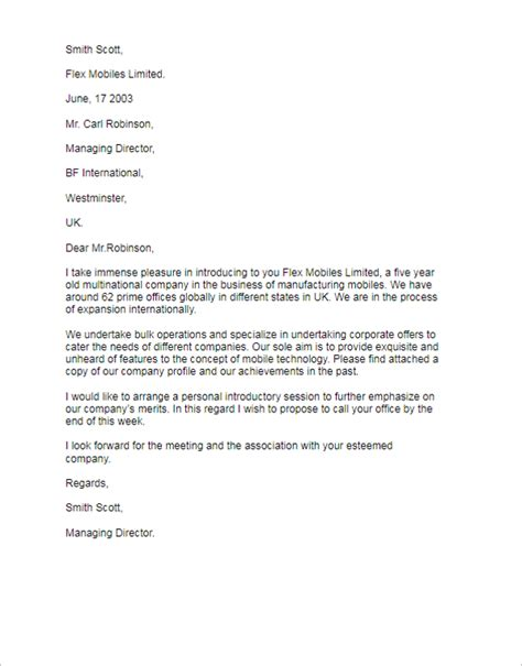 Letter Of Introduction Template 41 Introduction Letter Templates Free Sles Exles