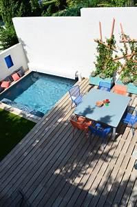 Mini Pool Terrasse : onderhoudsvriendelijke tuin met zwembad inrichting ~ Michelbontemps.com Haus und Dekorationen