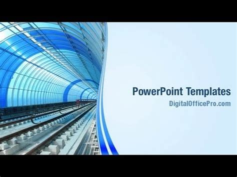 metro rail tunnel powerpoint template backgrounds