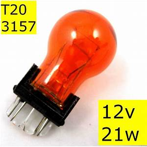 Wedge Light Bulb Sizes Bulb Amber T20 21w Orange Indicator 3156 3157 12v Lamp Car