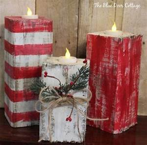 60 of the best diy christmas decorations kitchen fun With best brand of paint for kitchen cabinets with rustic candle holder centerpiece