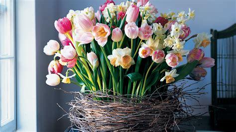 birch wrapped basket  tulips  daffodils video